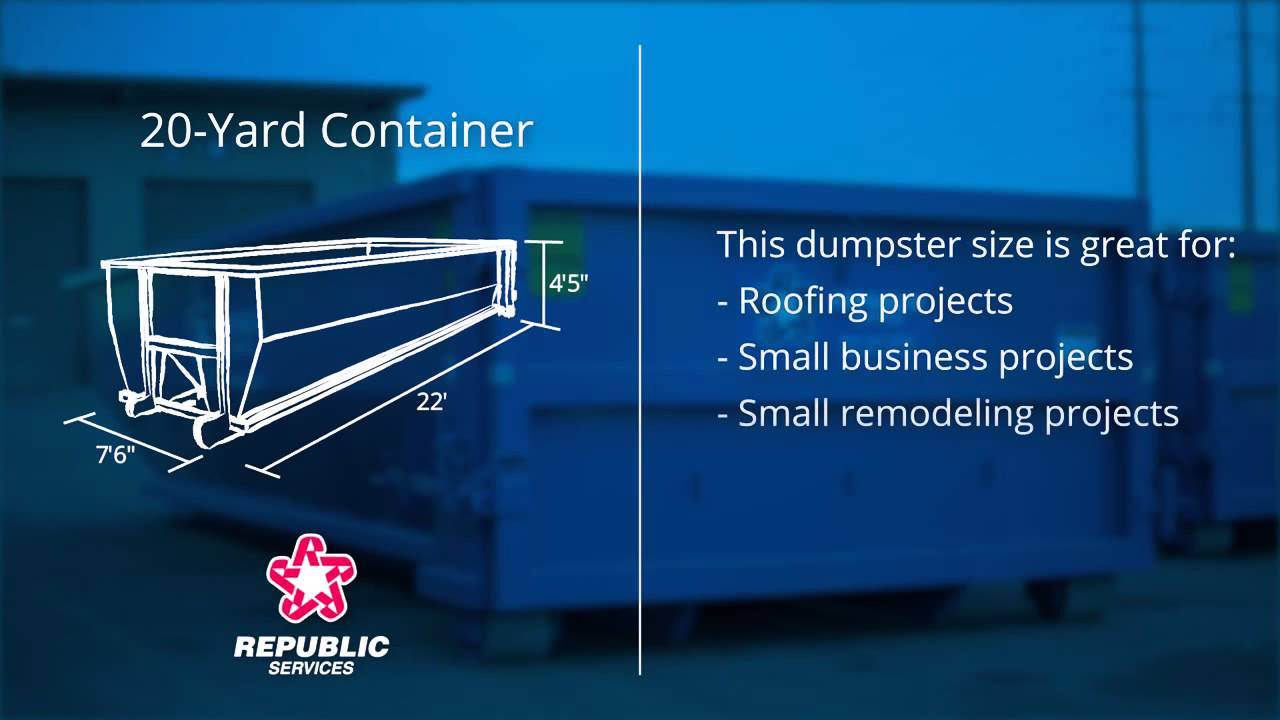 20 Yard Dumpster Republic