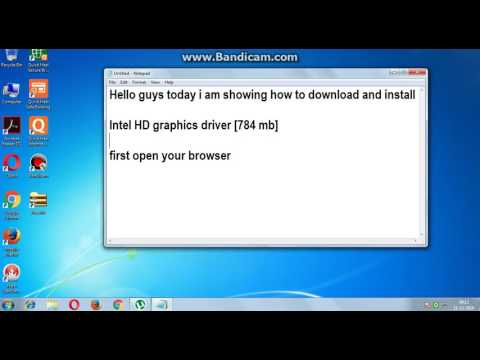 How to download Intel HD graphics driver windows 7