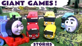 Thomas and Friends Game Compilation with Disney Cars Toys Games Play Doh Tayo Minions & Scooby-Doo