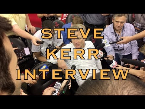 Entire STEVE KERR interview from Houston, morning shootaround before 2018 WCF G2