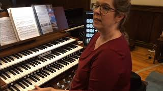 Organist Gigi Mitchell-Velasco demonstrates Hereford Cathedral Sample Set
