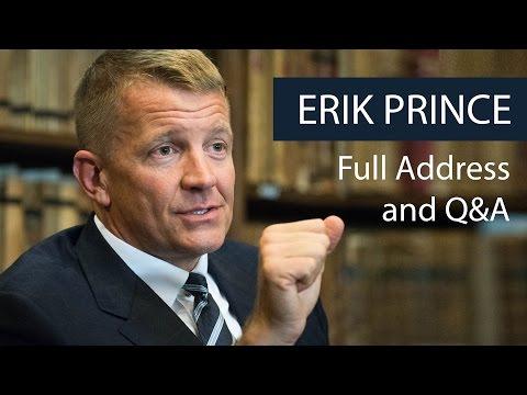 Erik Prince   Full Address and Q&A   Oxford Union