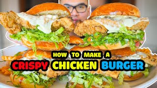 How to make a CRISPY CHICKEN BURGER