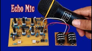 How to make Echo Microphone Ic CD2399GP With 4558D circuit at home