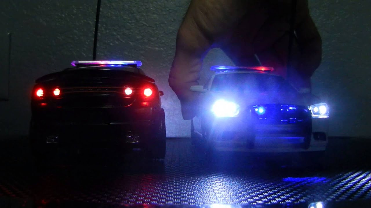 Custom 1 24 Scale Rc 2012 Dodge Charger Police Cars Youtube