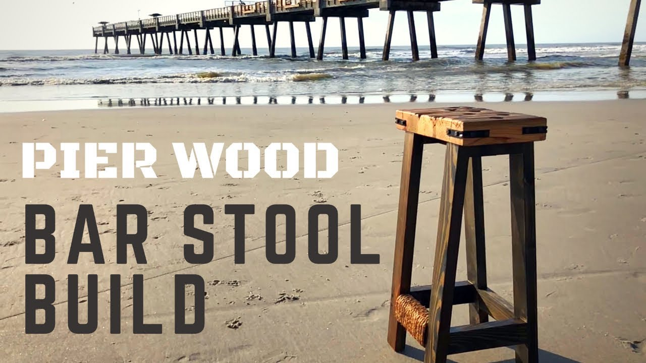 diy rustic bar. How To Build A Rustic Bar Stool DIY  YouTube