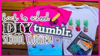 Back to School DIY Ideas: Tumblr inspired shirts Thumbnail
