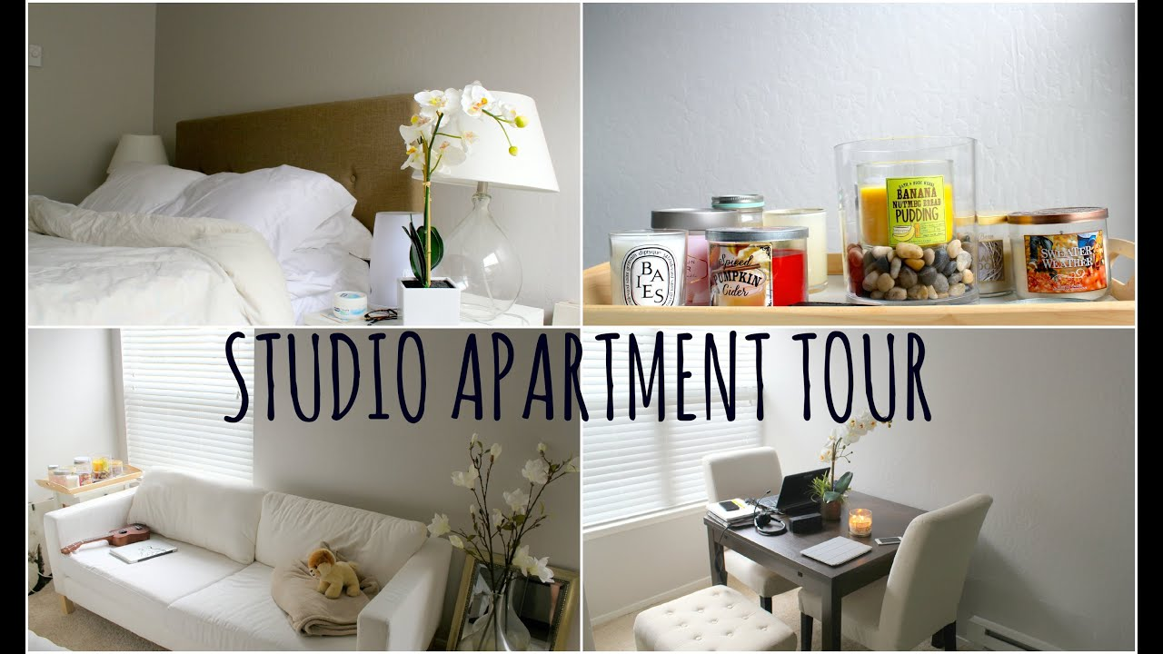 studio apartment tour youtube