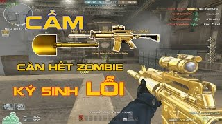 "Bình Luận CF :M4A1 C Ultimate Gold Quẩy Zombie Ký Sinh ""Lỗi"""