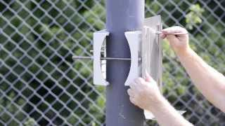 Установка управляемой поворотной IP-камеры видеонаблюдения AXIS Q6035PTZ c AXIS T98A18-VE на столб(, 2013-10-31T06:49:41.000Z)