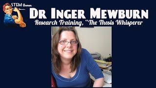 """Finding Solutions with Dr Inger Mewburn """"The Thesis Whisperer"""""""