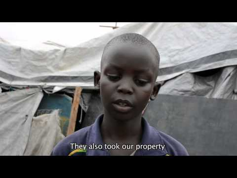 Children speak about the South Sudan crisis