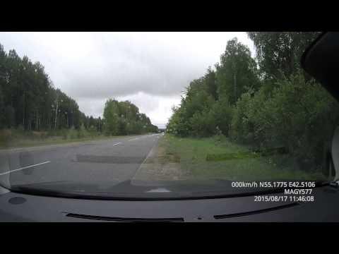дорога в Саров: вариант проезда Навашино - Выкса - Вознесенское, август 2015