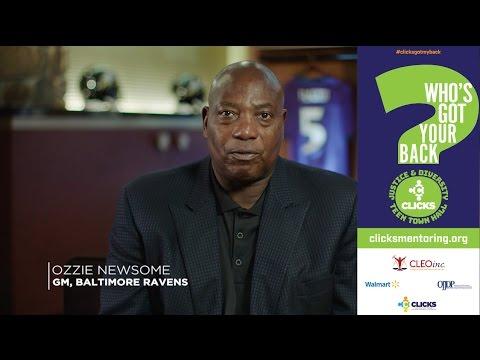 CLICKS: Ozzie Newsome Mentor Message