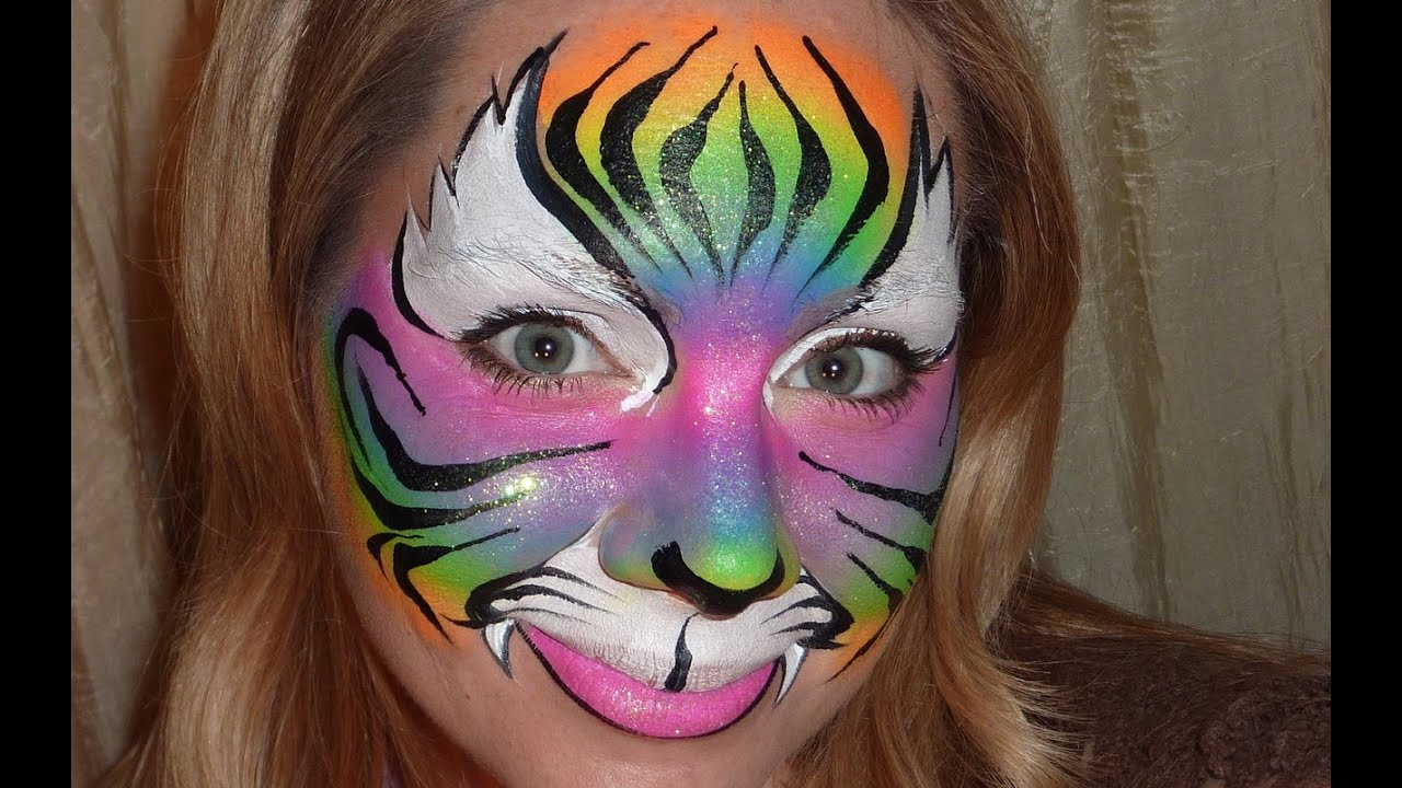 Easy tiger face paint - photo#19