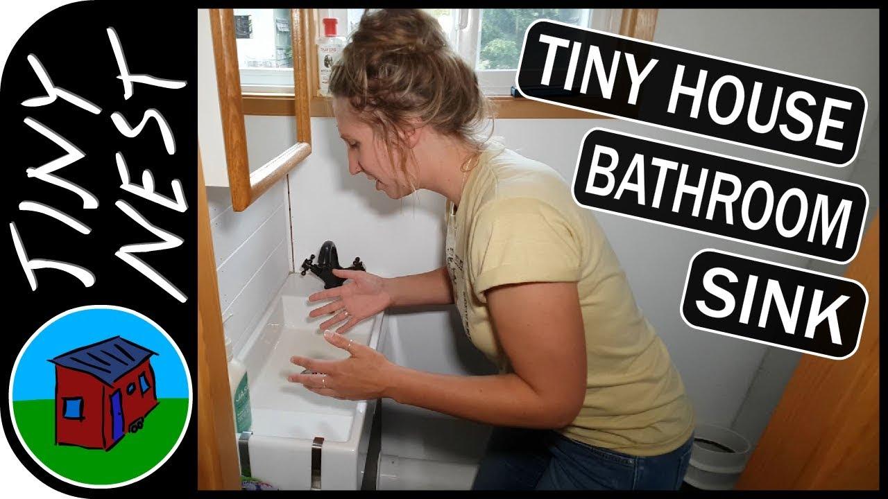 tiny house bathroom sink ep 76 youtube
