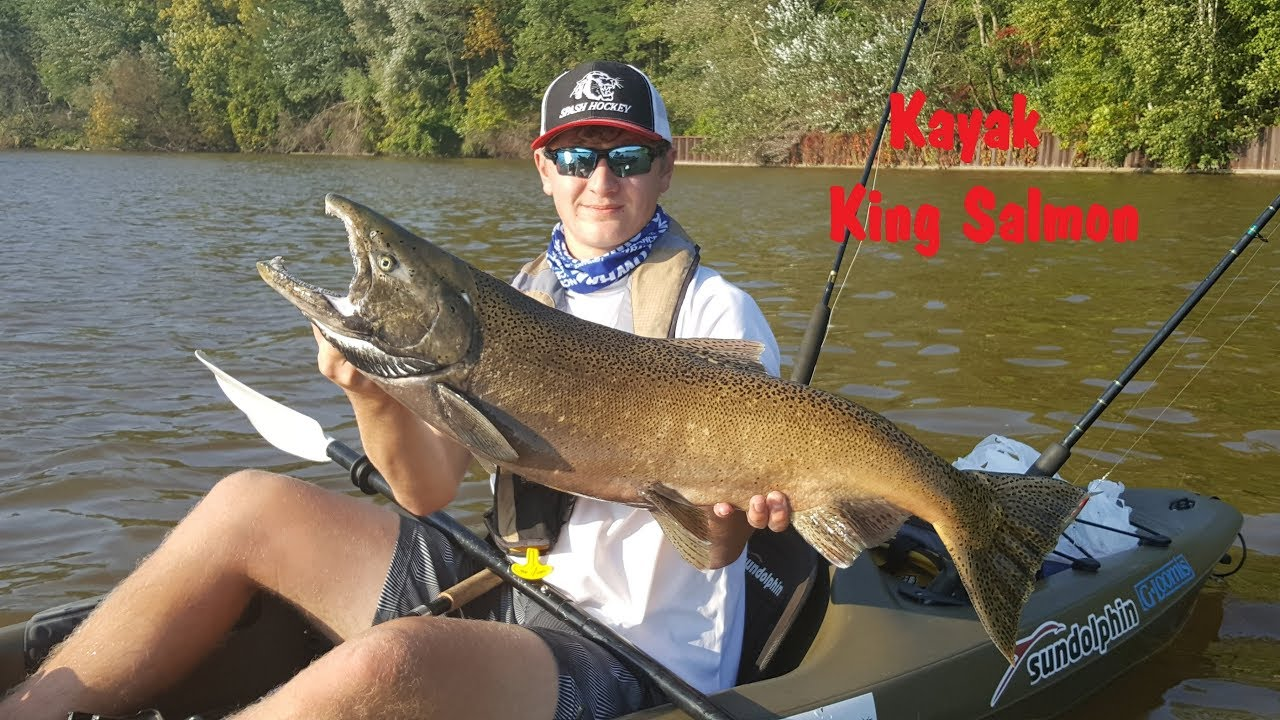 Nfn kayak kings manitowoc wisconsin fall salmon for Salmon fishing wisconsin