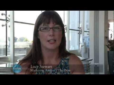 Lucy Stewart, Marketing Analyst, The Press, Christchurch, Fairfx Media NZ