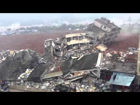 China landslide:Buildings collapse in Shenzhen industrial park