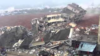 China landslide:Buildings collapse in Shenzhen industrial park