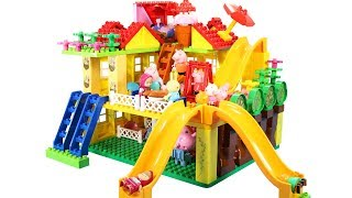 Peppa Pig Building Blocks House Lego Toys For Kids - Lego Duplo House Creations Toys #5