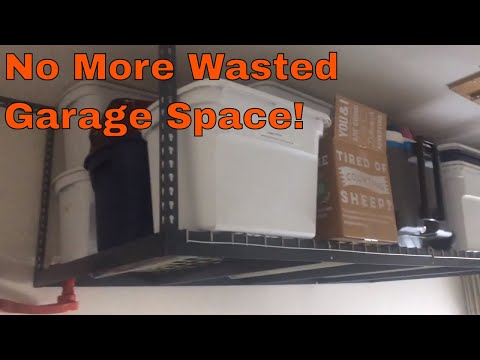 No Wasted Space Metal Overhead Garage Storage Rack Shelves - Organization