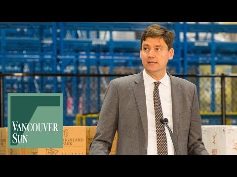 Attorney General David Eby tours new BCLC distribution centre