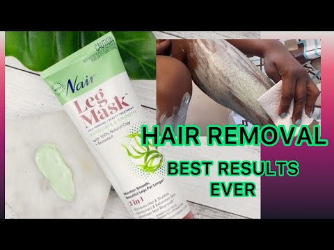 Nair Hair Removal Seaweed Leg Mask Tutorial Youtube