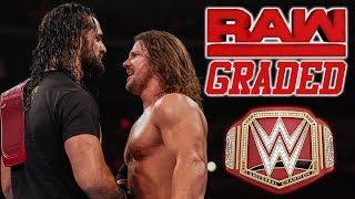 WWE Raw GRADED (22nd April) AJ Styles Vs Seth Rollins At Money In The Bank 2019