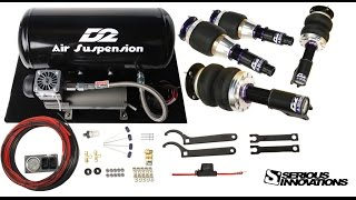 Unboxing of Accuair and D2 air suspension Plus installation for 2010 Toyota Corolla