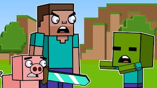 Baby Zombie & Respawn | Block Squad (Minecraft Animation)