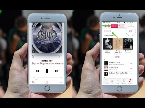 How to Find Shuffle & Repeat Option in All Iphone's Music App