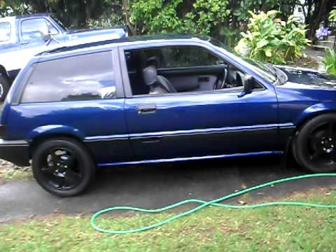 honda civic hatchback 1987 youtube. Black Bedroom Furniture Sets. Home Design Ideas