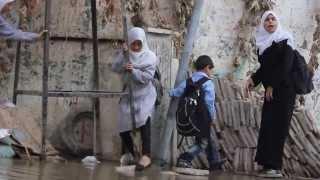 Children Navigate Sewage, From YouTubeVideos