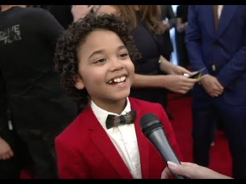 """Noah Cottrell - """"Henry"""" in Skyscraper - Interview at NYC Red Carpet Premiere"""