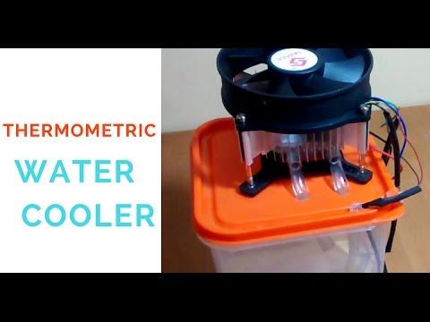 How to make a Water Cooler at home using thermoelectric peltier device