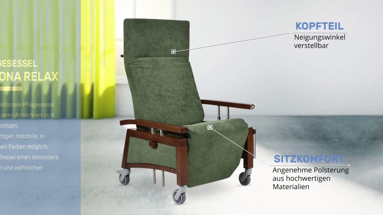 devita pflegesessel mit rollen und versenkbaren armlehnen. Black Bedroom Furniture Sets. Home Design Ideas