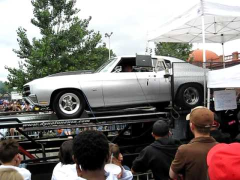 Twin Turbo Chevelle looks stock but lays down 1100 HP