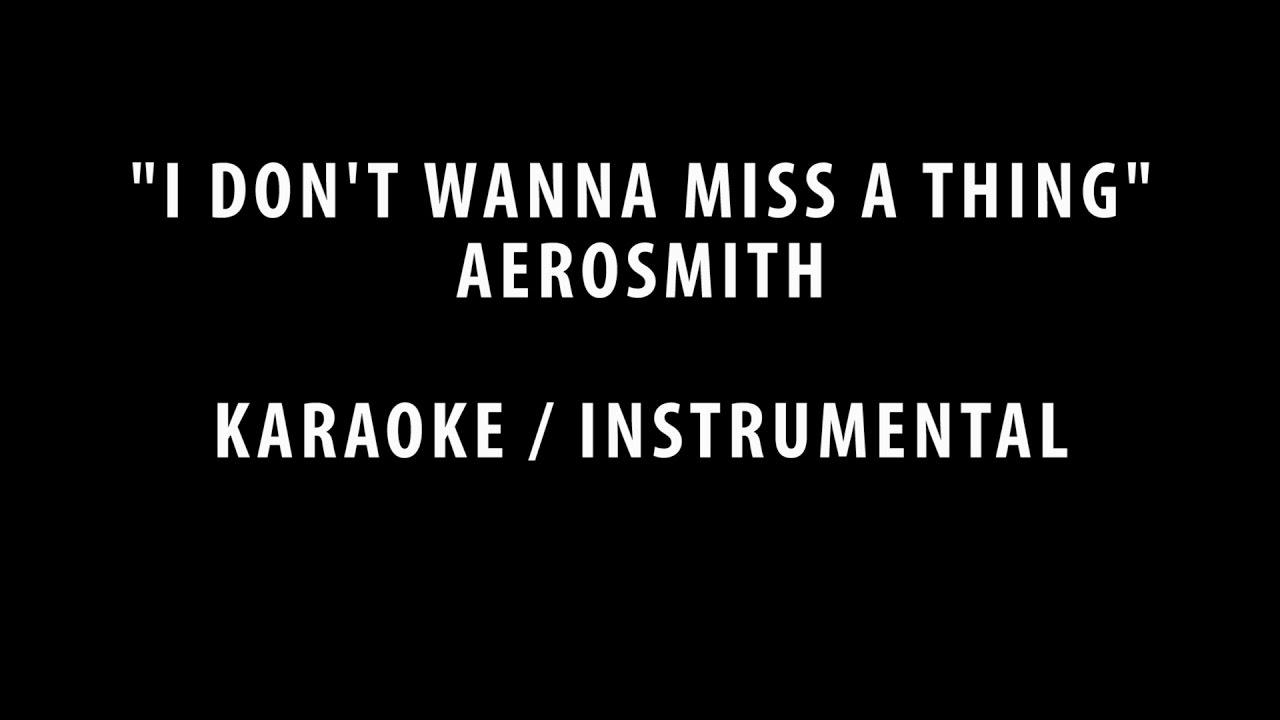 Paroles I Don't Want To Miss A Thing par Aerosmith ...
