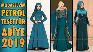 Modaselvim  Petrol  Tesettür  Abiye  Elbise Modelleri 2019    Hijab Evening  Dress    oil  green