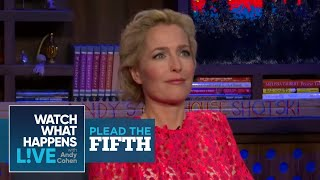 Gillian Anderson Talks Pay Inequality With David Duchovny | Plead the Fifth | WWHL