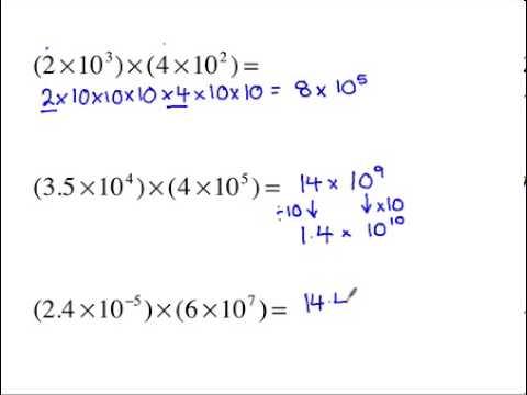 Higher Gcse Maths Multiplying And Dividing Standard Form Youtube