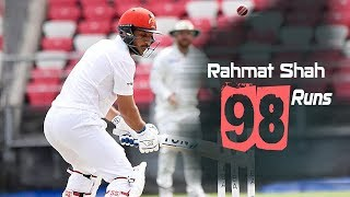Rahmat Shah's 98 Run Against Ireland || Only Test || Day 2 || Afg vs Ire in India 2019