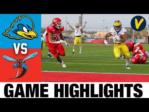 #8 Delaware vs Delaware State Highlights   FCS 2021 Spring College Football Highlights