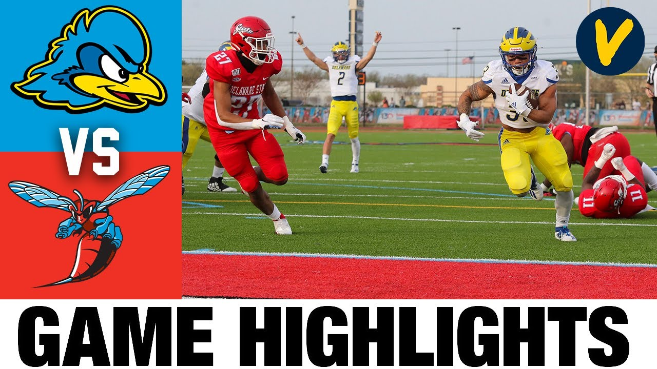 #8 Delaware vs Delaware State Highlights | FCS 2021 Spring College Football Highlights