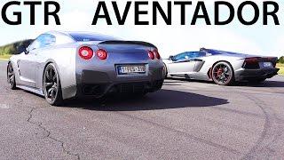 Lamborghini Aventador vs Nissan GTR Mercedes SL65 AMG V12 Sound : h...