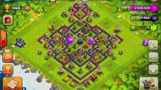 clash of clans town hall level 9 base design (without x-bow) #8