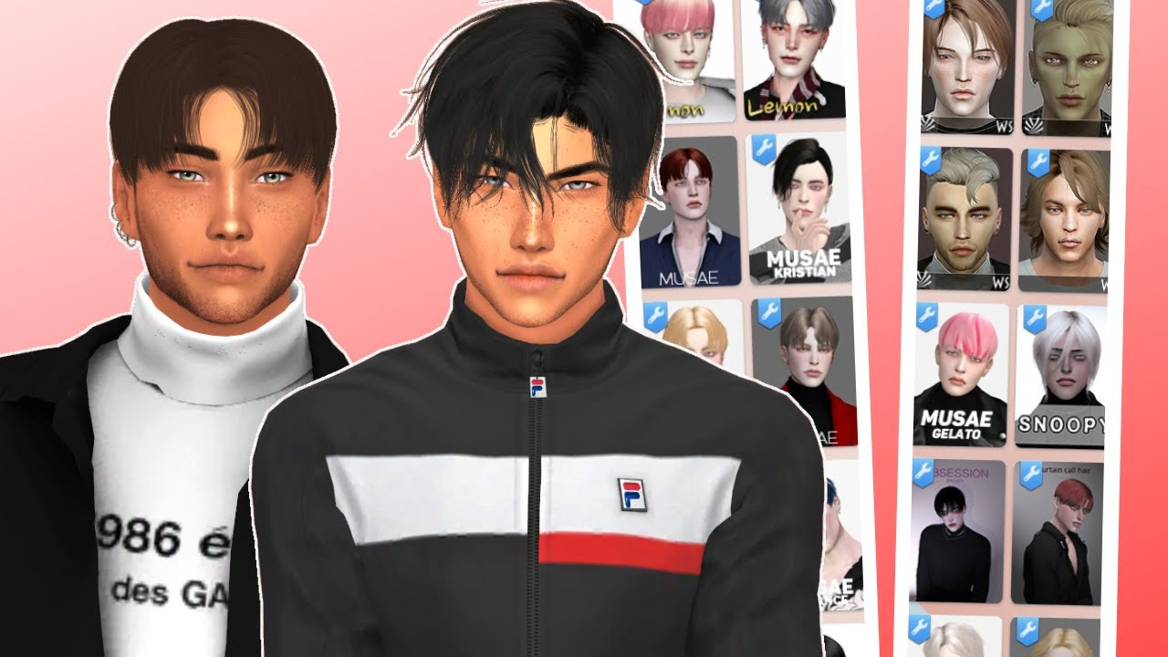 Sims 4 Male Hair Haul Cc Links Youtube