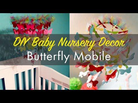 DIY Butterfly Crib Mobile Using Cricut