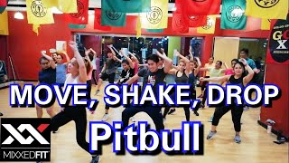 Download Mp3 Pitbull - Move, Shake, Drop Ft. Flo Rida | Mixxedfit® | Dance Workout |